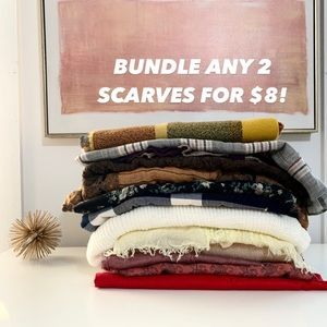 🧣Scarfs 2 for $8!
